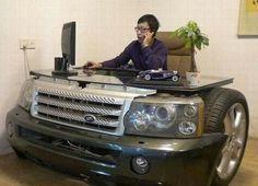 Mesa oficina coche neumatico #todoterreno #4x4