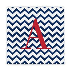 Personalized Chevron Pattern Wrapped Canvas (A)