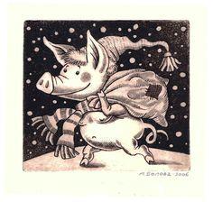 new year pig by Asya Belova