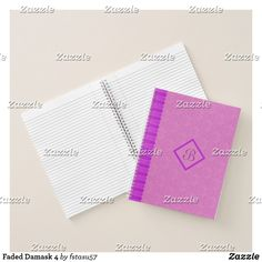 Faded Damask 4 Notebook