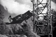 When I was a kid I was told not to play near pylons - @crankworx Les 2 Alpes #france #les2alpes #dirtjump by danmilnerphoto