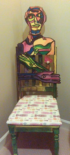 African American Fabric: Upcycled Painted Chair | African American Fabrics