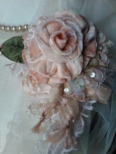 velvet rose shabby brooch, corsage, hair accessory, velvet flowers, wedding , vintage, romantic, pin, handmade velvet rose, floral corsage,