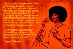Angela Davis - Postcard created by Billy Dee for Black/Inside http://blackinside2012.wordpress.com/