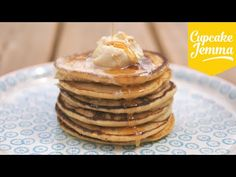 Pancake recipe! How to make Fluffy Ricotta Hotcakes | Cupcake Jemma - YouTube
