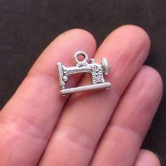 10 Scissor Charms Antique Bronze Tone 3D BC082