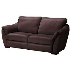 ÄLVROS Three-seat sofa - Mjuk dark brown - IKEA