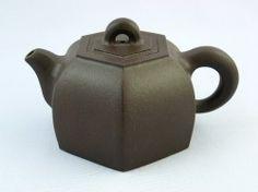 中国茶器 茶壷(紫砂壺) 渾六方壺