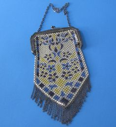 Metal mesh flapper purse. Inscribed with Mandalian Mfg. Co.