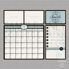 I would so love this but in pink for my home calendar and menu tracker, so everyone knows what is going one, plus you can add pictures at the top!!