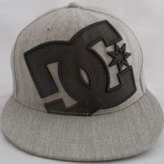 31ba028c DC Shoe Co Gray 210 Fitted Flexfit Logo Baseball Cap 7 1/4 7 5/8 NWOT Wool  Blend #Flexfit #BaseballCap