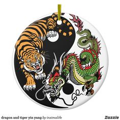 Illustration of dragon and tiger yin yang symbol of harmony and balance. Vector illustration vector art, clipart and stock vectors. Dragon Tiger Tattoo, Tiger Dragon, Dragon Art, Dragon Yin Yang Tattoo, Yin Yang Tattoos, Harmony Symbol, Feng Shui Animals, Yin Yang Art, Japanese Dragon Tattoos