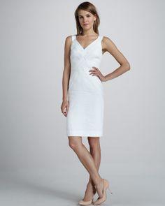 Milly Basket-Weave Poplin Dress - Neiman Marcus