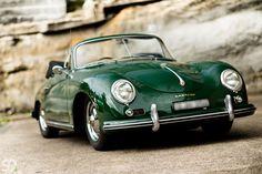 Green Porsche 356 via porsche-mania.com