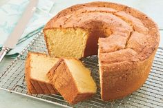 Pound Cake-see tips for removing. I read also that you can put a towel soaked in hot steamy water on top of cake pan for 10 minutes before flipping it (with oven mitts on) and use spatula to loosen sides beforehand. Pre-slick the pan up as directed.