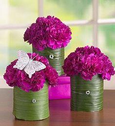 Pretty carnation centerpieces/decorations