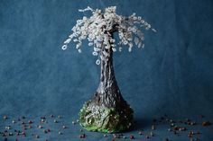Handmade Decorative Happiness Tree With White Beads Sakura For Table Decoration * Want additional info? Click on the image.