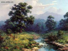 dalhart windberg | Dalhart Windberg Acountry Stream (Drawing & Painting)