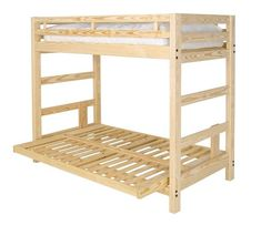 Twin over Futon Standard Bunk Bed with Underbed Storage | Bunkbed ...