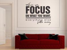 ...when you focus