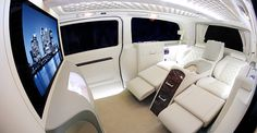 Luxury Viano cream interior - Two seats reclined with extended leg support