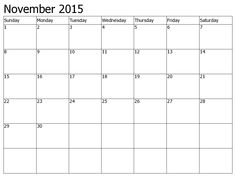 Feel Free to Download November 2015 Calendar Word and November 2015 Holidays. Nov 2015 Blank Printable Template, PDF Doc, MS Excel, Page, Notes, Vector.