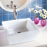 Found it at Wayfair - Classically Redefined Rectangular Ceramic Vessel Bathroom Sink with Overflow