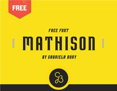Mathison is a geometric display font created by Gabriela B . Mathison is great for logo design branding, quotes, posters, stationary, headlines and so much more. Free for personal & commercial use Display Font, Best Free Fonts, Logo Design, Typography, Behance, Branding, Graphics, Words, Shirt Ideas