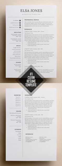 Clean and minimal resume templates and CV /Resume templates print designs to help you land that great job. Simple and elegant design resume templates are fully Simple Resume Template, Student Resume Template, Resume Design Template, Resume Templates, Resume Template Download, Free Cv Template, Professional Cv Template Free, Nursing Resume Template, Design Social
