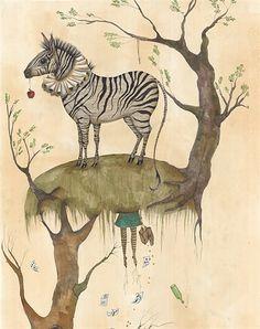 The Five Legged Zebra illustration by Emily Carew Woodard