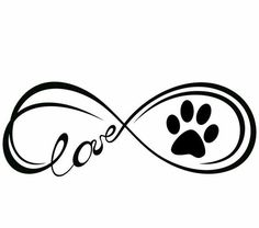 Tattoo Dog Silhouette Pets 66 Ideas For 2019 Dog Tattoos, Animal Tattoos, Body Art Tattoos, Tatoos, Boxer Tattoo, Trendy Tattoos, Small Tattoos, Infinity Symbol Love, Eternity Symbol