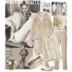 Check out this winter creme color theme. Particularly for fall and winter, I love the various texture with faux fur, tweet, wool, leather and suede.  Don't let your leather dry out! Take care of your smooth leather with http://www.amazon.com/Leather-Conditioner-Investment-Furniture-Leather/dp/B00EECWG7A. Take care of your suede and fabric with new product http://www.amazon.com/gp/product/B00GK2G5E2. It should be available for purchase by the end of this week. by mariapia65 on Polyvore
