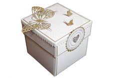 Wedding Exploding Box  Gold Wedding Invitation  by LinaDeco
