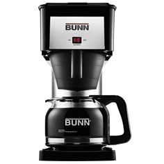 Treat yourself to the delicious goodness of fresh brewed coffee with this home pourover brewer. This coffee maker is patterned after Bunn's commercial brewing systems.