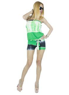 Salopeta Dama Beautiful Green  Salopeta dama casual. Imprimeu indraznet ce va va scote din anonimat. Datorita design-ului lejer aceasta salopeta este perfecta pentru sezonul cald.     Lungime pantalon: 28cm  Lungime totala: 80cm  Latime talie: 36cm  Compozitie: 100%Bumbac Casual, Design