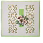 Elegant Borders Embroidered on a Card