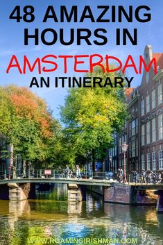 Amsterdam is one of Europe's top city-break travel destinations. This travel guide will help you fill your time there. #travel #Amsterdam #Europe #travelideas