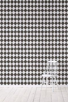 Wallpaper by ellos Harmony-tapetti, musta