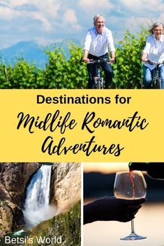 Escape on a romantic midlife adventure getaway and try something different. Romantic midlife adventures can be fun, stimulating, and romantic! Romantic Vacations, Romantic Getaways, Romantic Travel, Vacation Trips, Vacation Spots, Italy Vacation, Vacation Places, Santorini Vacation, Mexico Vacation