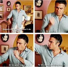 """When he's living large. 