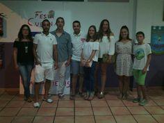 Tània i Rubén també es van arrimar anit fins a la Festa Cubana de la Falla Campaments #Germanor #FallesDénia www.fallaoeste.com