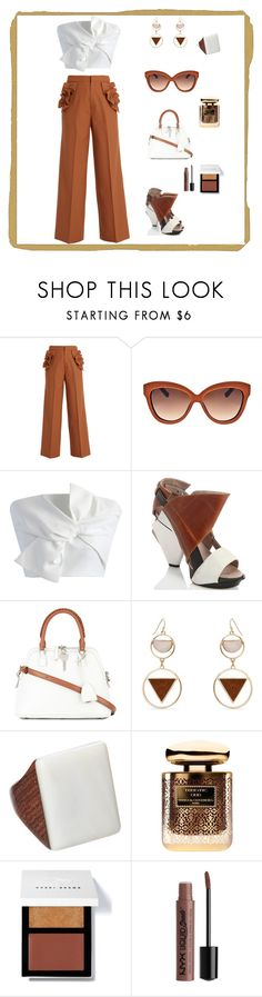 """""""Happy Hour"""" by njpryce ❤ liked on Polyvore featuring Muveil, Linda Farrow, Chicwish, Abcense, Maison Margiela, Erica Lyons, By Terry, Bobbi Brown Cosmetics and Charlotte Russe"""