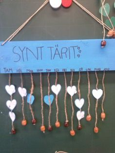Synttärit nauhoissa Primary Education, Early Childhood Education, Back To School, Children, Kids, Preschool, Teaching, Crafts, Craft Ideas
