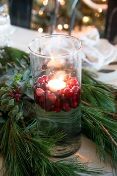 Have a Joanna Gaines Christmas by creating these Joanna Gaines approved Christmas decorations perfect for your homes holiday decor. Christmas Table Settings, Christmas Tablescapes, Christmas Candles, Christmas Centerpieces, Christmas Decorations, Holiday Decorating, Decorating Tips, Merry Little Christmas, All Things Christmas