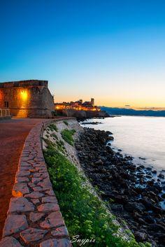 Antibes at twilight on the #Riviera