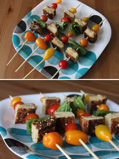 Grilled Cheese and Tomato Skewers   31 Foods On A Stick That Are Borderline Genius