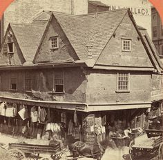 Old Feather Store Dock Square Boston 1680