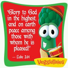 Luke 2:14 Christian Cartoons, God Made You, Luke 2, Veggietales, Sunday School Crafts, Daily Reminder, Christmas Printables, Word Of God, Coloring Pages
