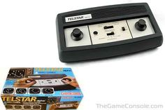 1977-Coleco Telstar Alpha. That is it! My first video game console that I remember having.  I still have it with the box. When hockey and pong were basically the same game.