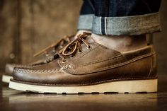 Oak Street Bootmakers - Vibram Sole Trail Oxford Natural Chromexcel